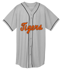 Tigers - Custom Embroidered Adult Full Button Wicking Mesh Jersey  - 593 D7EE10CF9CBD