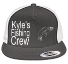 Kyle's-Fishing-Crew - Custom Heat Pressed Two Color Classic  Trucker Hat  - 6006T 636E344D7237