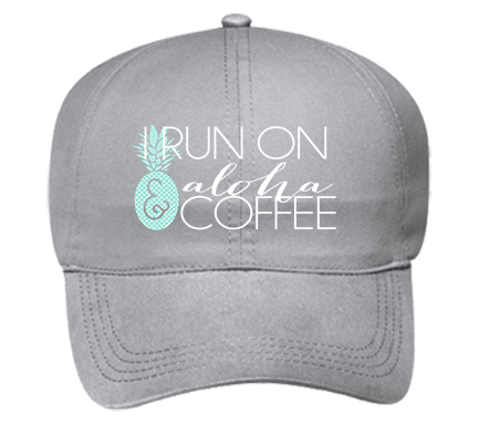 83414f636 run on coffee gray - Custom Embroidered Ponytail Style Hats Otto Cap 69-358