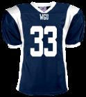 33WGU33HUNTLEY DISCONTINUED Adult Steelmesh Football Jersey - Teamwork Athletic -1327