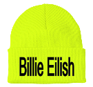 "Billie Eilish - Custom Heat Pressed 3"" Fold Up Cuff Beanie - CP90 66A42C33814B"