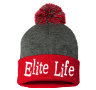 Elite Life-E T M - Custom Heat Pressed Pom Pom Knit Beanie - SP15 7E9E1FA565E8
