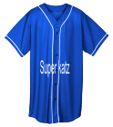 Super-katz Youth Full Button Wicking Mesh Jersey