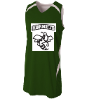 Hornet Green - Custom Heat Pressed Youth Double Double Reversible Jersey - NB2372 1B69A0F7D0F4