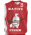 cougar-nation-girls Youth 2-Color Reversible Basketball Jersey
