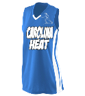 Carolina Heat 1 - Custom Screen Printed Girls Wicking Mesh Jersey  - 528 395A3B4D1CB1
