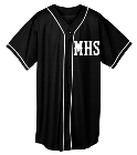 MHS-SENIORS-'19 - Custom Heat Pressed Adult Full Button Wicking Mesh Jersey  - 593 811EC4D646A1