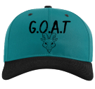 G.O.A.T-Eres El Mejor - Custom Heat Pressed Cotton Snapback Two Color Hat - 212 EE14A9C6233A