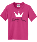 Birthday princess - Custom Heat Pressed Jerzees Youth T-Shirt 29B F43517A0AE6F