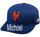 Michoel - Custom Heat Pressed New York Mets - Official MLB Hat for Little Kids Leagues B7AF3593CB3C