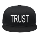 TRUST - Custom Heat Pressed Snap Back Flat Bill Hat - 125-1038 40EA75B8C5D4