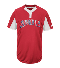 11-11 - Custom Heat Pressed Youth Angels Two-Button Jersey - Angels-MAIY83 71969A50CE23