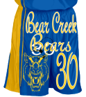 Boys-and-Girls-Home-and-Away-Bear-CreekBears DISCONTINUED Adult Dazzle Basketball Shorts - 11