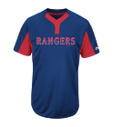 00-player name - Custom Heat Pressed Custom Rangers Two-Button Jersey - Rangers-MAI383 BCC862C834D1