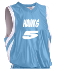 5-Hawks-5 - Custom Heat Pressed Youth Basketball Jersey - Reversible Downtown - Teamwork Athletic - 1409 F936D57178E8