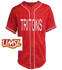 TRITONS - Custom Heat Pressed Teamwork Athletic Full Button Baseball Jersey - 1860B D32F8B60ABCE