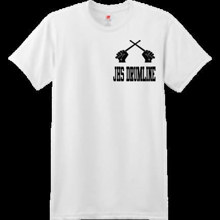 JHS DRUMLINE shirt - Custom Heat Pressed Custom Screen Printed Hanes  T-Shirt - 4980 S