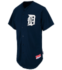 Baby Shower - Custom Embroidered Tigers Full Button Baseball Jersey - Adult B1D12E413476