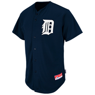 61ddfdb28a2 Baby Shower - Custom Embroidered Tigers Full Button Baseball Jersey - Adult  B1D12E413476
