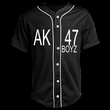 6baa2118cbf AK 47-BOYZ - Custom Heat Pressed Adult Full Button Baseball Jersey - N4184  40BB9C27989A