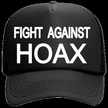 0530c9bda FIGHT -AGAINST-HOAX - Custom Embroidered Mesh Trucker Hat 32-467