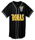 'Ronas - Custom Heat Pressed Adult Full Button Wicking Mesh Jersey  - 593 544155E9AE71