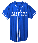 BABY GIRL-Gonzalez  - Custom Screen Printed Youth Full Button Wicking Mesh Jersey  - 594 74738672AFE0