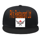 Pk's Restaurant Ltd - Custom Heat Pressed Snap Back Flat Bill Hat - 125-1038 53583A990AC6