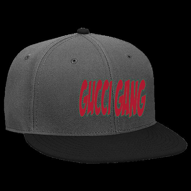 Gucci Gang - Snapback Flat Bill Hat - 125-978 - Custom Screen Printed -  CustomPlanet.com 1812a0850b8