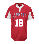 18 - Custom Heat Pressed Youth Angels Two-Button Jersey - Angels-MAIY83 3CE39CC1E3BC