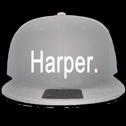 a623a2f8cbedf Harper. - Snapback Flat Bill Hat - 125-978 - Custom Embroidered ...