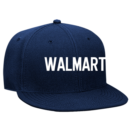 Walmart - Custom Heat Pressed Snapback Flat Bill Hat - 125-978 EEF856583C32 d71865df1a7