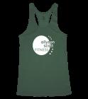 Green-ASF-Circle- Ladies Racerback Tank Top