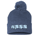 #SSS - Custom Embroidered Pom Pom Knit Beanie - SP15 AFF69B68AA06