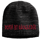 Death BY Knowledge - Custom Heat Pressed Heathered Beanie - District Threads DT620 51D0F9E9A7FF