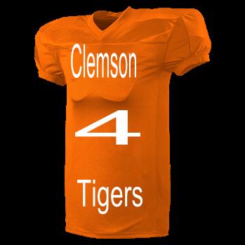 934933fb0bc Clemson-4-Tigers-Watson-4 - Custom Heat Pressed Adult Football Jersey -  9560 EA245B6D0A96