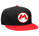 mario - Custom Heat Pressed Snapback Flat Bill Hat - 125-978 7341F27B2DE7