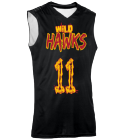 1111FLETCHERWILDHAWKS Youth 2-Color Reversible Basketball Jersey