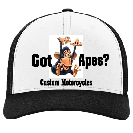 Got Apes - Custom Heat Pressed Cotton Twill Mesh Hat-110R