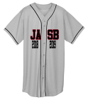 JASB-2018 2019-2018 2019-PLAYER-10 - Custom Heat Pressed Youth Full Button Wicking Mesh Jersey  - 594 D3A67067CB7C