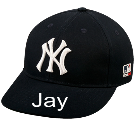 Jay - Custom Embroidered New York Yankees - Official MLB Hat for Little Kids Leagues A1F717FDCFCF