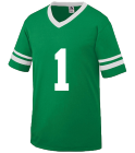 1-1 - Custom Heat Pressed Old School Youth Football Fan Jersey  - Augusta 361 20554D3C33BB