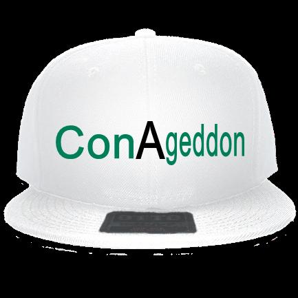 7c599eb770dd7 Con-A-geddon - Custom Embroidered Snapback Flat Bill Hat - 125-978  4467D7728C13