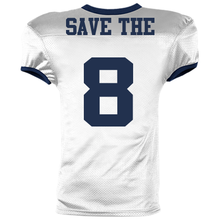372035a33 08-SAVE THE-8 - Reversible Football Jersey Adult -1357 - Custom Heat ...