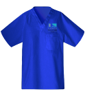 ffac - Custom Heat Pressed Unisex V-Neck Scrubs - 220C 5C3876336C19