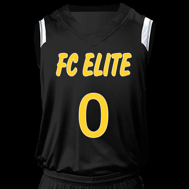 376d83181 FC ELITE AAU JERSEY (away) - Custom Heat Pressed Youth V-Neck Custom Basketball  Jerseys - NB2340 3EEC065A564A
