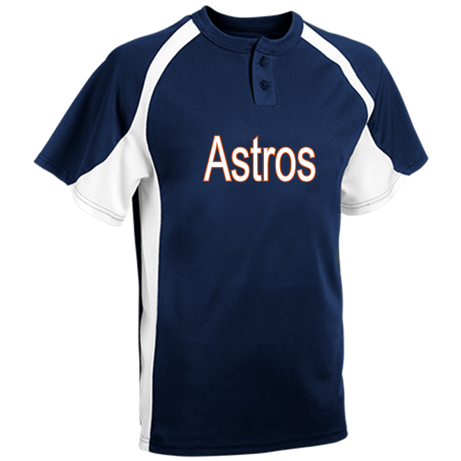 909287d17 Astros - Custom Heat Pressed Youth Line Drive 2-Button Baseball Jersey -  1200P A18CC5960926