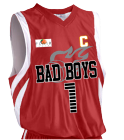 BAD BOYS1 - Custom Heat Pressed Youth Basketball Jersey - Reversible Downtown - Teamwork Athletic - 1409 99FB1753CC72