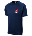 Indians Big Sky Medical Center - Custom Heat Pressed Indians Adult MLB Replica T-Shirt - 5300 1E197C045059
