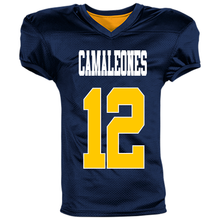 CAMALEONES-12-NAT KAN-12 - Custom Heat Pressed Reversible Football Jersey  Adult -1357 49482937A653 27820e659